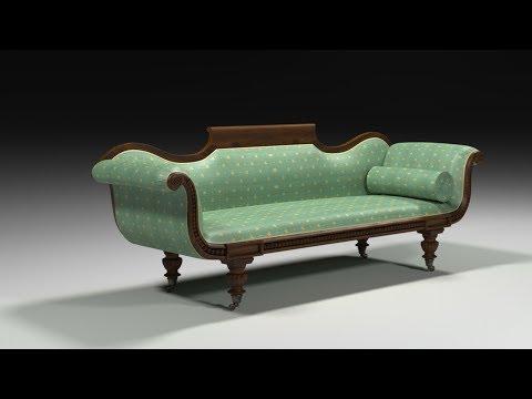 19th Century Gondola Sofa tutorial using Spline 3ds max Furniture Part 02