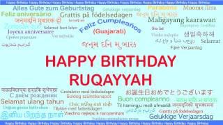 Ruqayyah   Languages Idiomas - Happy Birthday