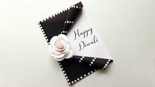 Beautiful Diwali greeting card making/ DIY Diwali card making ideas/ Handmade Diwali greeting making