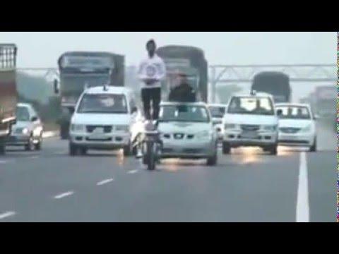 Bullet Stunt By Amandeep Singh Flag March