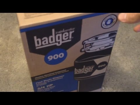 Badger 900 insinkerator install!