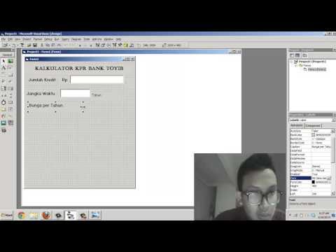 Tutorial membuat kalkulator KPR Bank dengan virtual basic 6.0