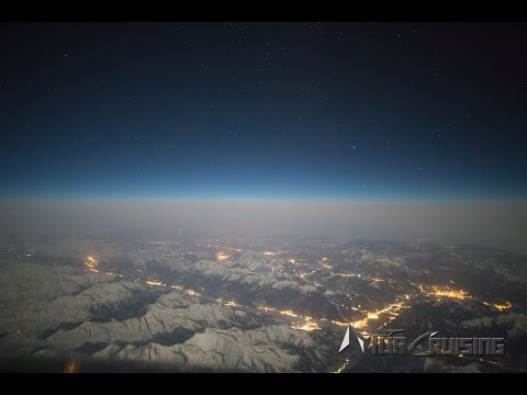 Night Flights from the Flight Deck - Star time lapses