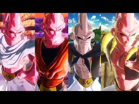 SUPER BUU ALL FORMS!! (Gotenks / Gohan / Piccolo Absorbed