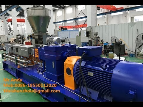 Export to Mexico KTE-75D High Torque PA66 and Glass Fiber Compounding Extruder