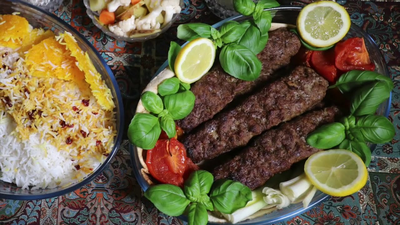 کباب کوبیده با فر، بدون نیاز به آتش و ذغال | آشپزی ایرانی | غذای ایرانی | amozesh ashpazi