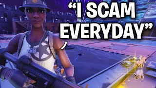 Je suis allé AFK tout en échangeant mon GUN MODDED! 😱😂 (Scammer Get Scammed) Fortnite Save The World