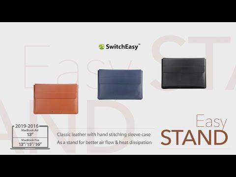 EasyStand MacBook Air/Pro 皮革護套 SwitchEasy 台灣官方頻道