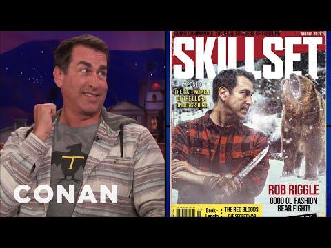 Rob Riggle Teaches Conan How To Survive A Bear Encounter   CONAN on TBS