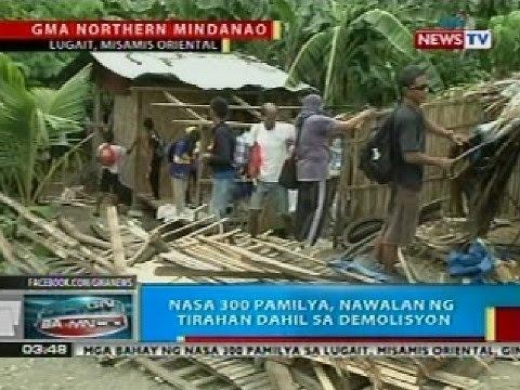 BP: Nasa 300 pamilya sa Lugait, Misamis Oriental, nawalan ng tirahan dahil sa demolisyon