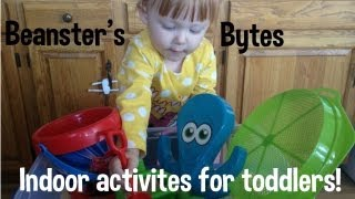 Fun toddler games & activites! Can be done indoors for hot summy days!
