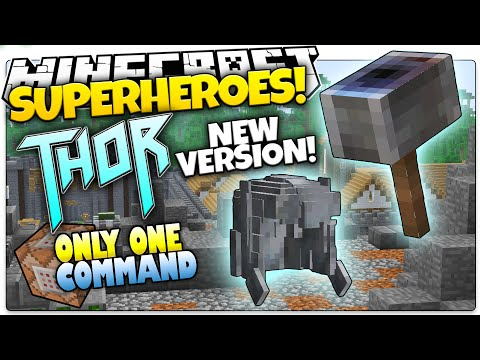 Minecraft | How To Be A Superhero! | NEW THOR! | Only One Command (One Command Creation)