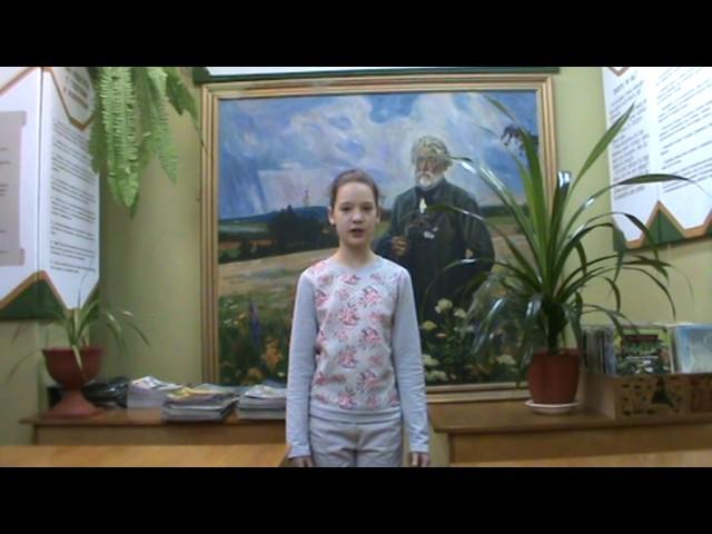 Изображение предпросмотра прочтения – ВладаПавлова читает произведение «Бородино» М.Ю.Лермонтова