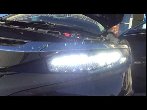 2016 civic touring led headlights youtube. Black Bedroom Furniture Sets. Home Design Ideas