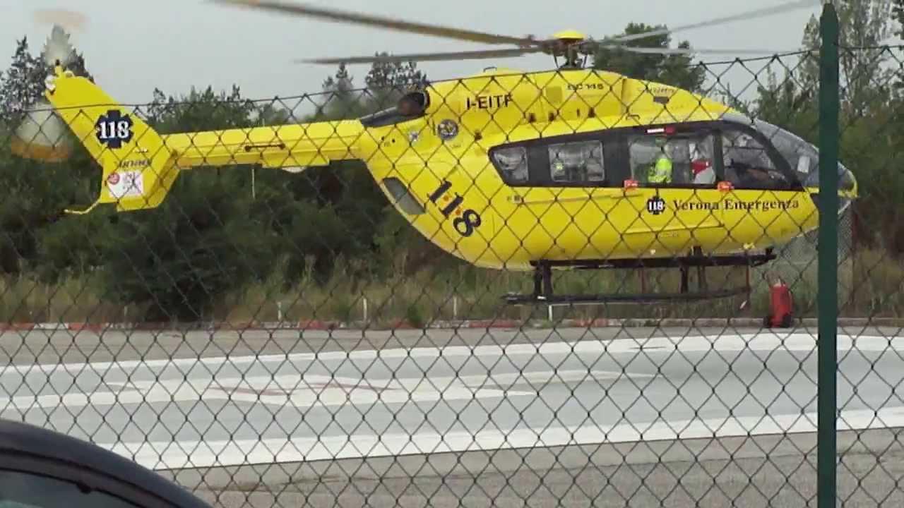 Elicottero 118 Verona : Atterraggio elisoccorso verona emergenza youtube