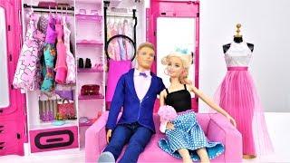 Куклы. Барби готовится к свиданию. Прически и наряды для куклы