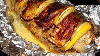 Рыба печеная с картошкой в фольге.