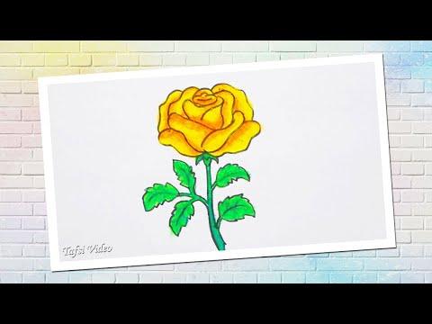 Cara Menggambar Bunga Mawar | Gambar Bunga yang Mudah - YouTube