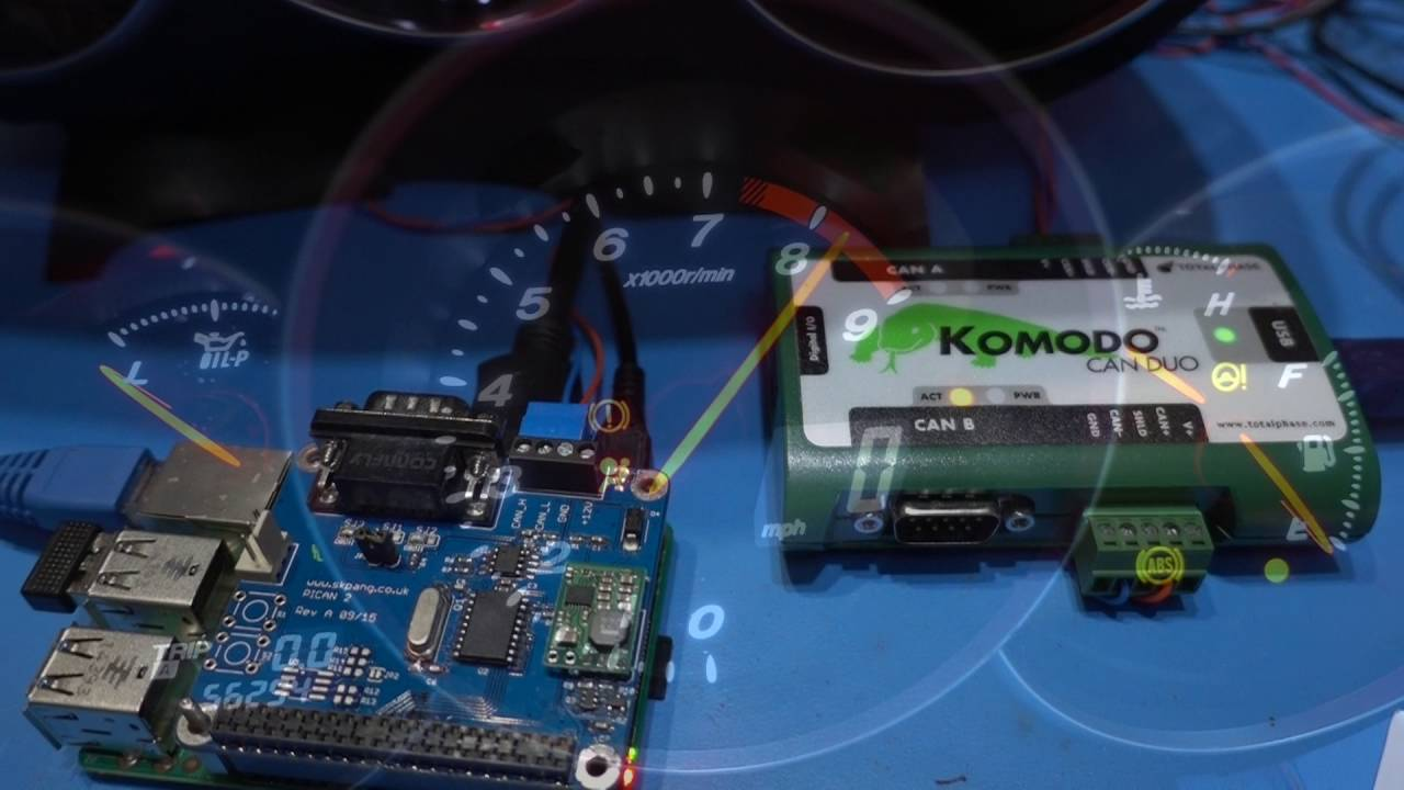 PiCAN2 CAN-BUS Driving a RX8 Instrument Cluster
