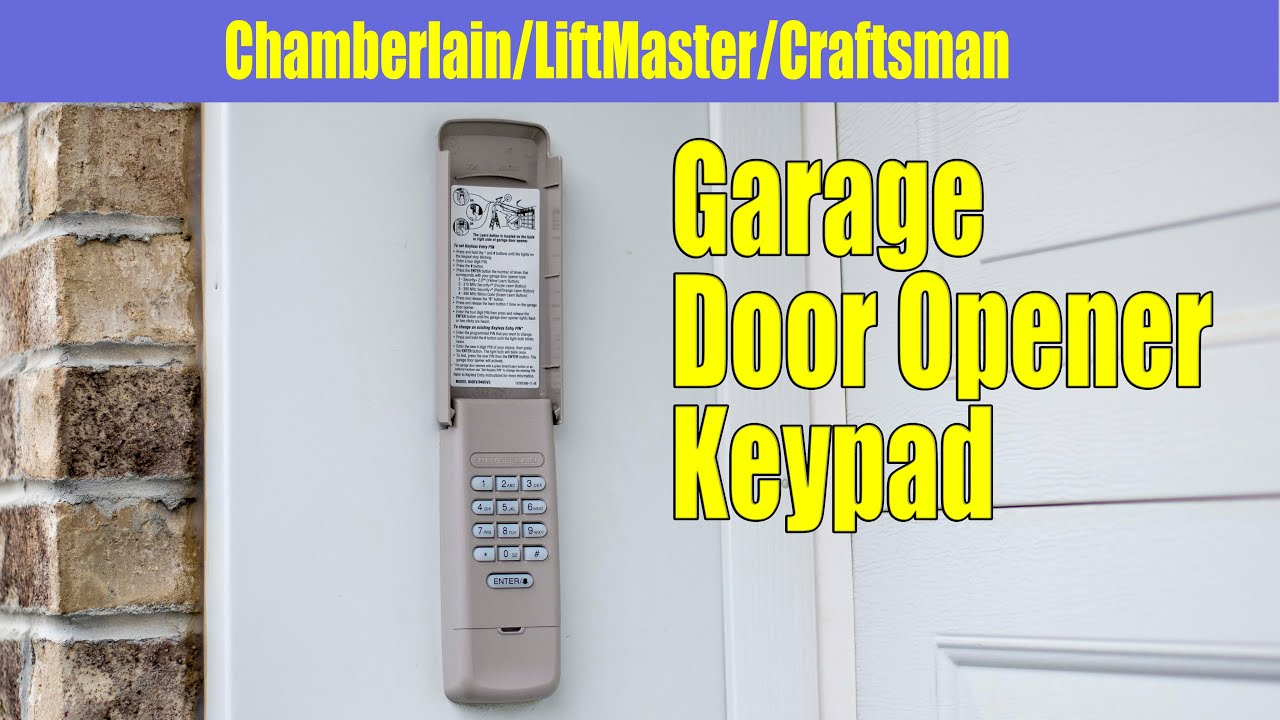 How To Install Garage Door Opener Keyless Entry Wireless Keypad Youtube