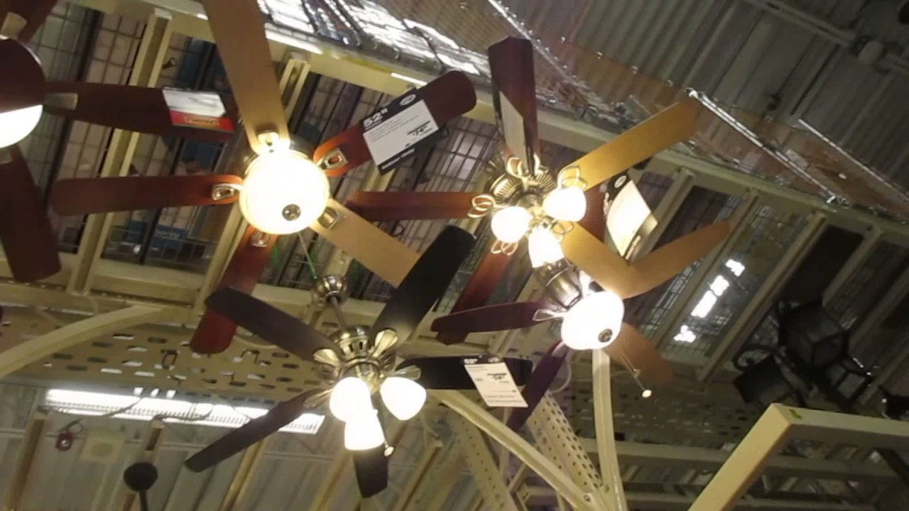 Dayton Industrials Ceiling Fans On High And Fan Display At