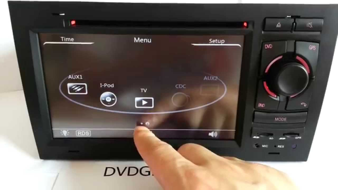 Double Din Audi A4 Dvd Player Navigation Dvd Gps For Audi