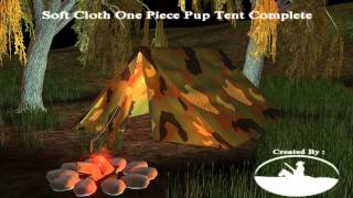 A Demonstration of the Soft Cloth One Piece Pup Tent Complete by Cricky