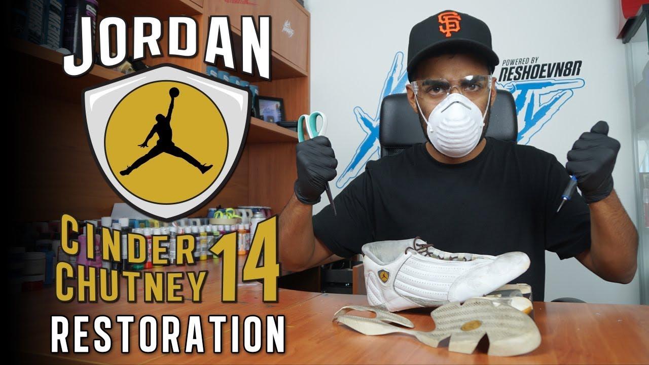 4064b858a2886e Air Jordan 14 Restoration + Vick s Indoor Set-Up - YouTube
