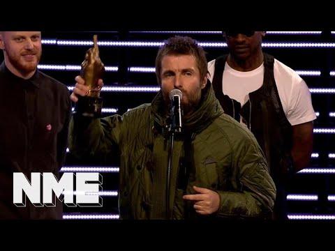Liam Gallagher wins the Godlike Genius Award | VO5 NME Awards 2018