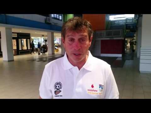 Vodafone Fiji U23 team coach Frank Farina interveiw - Brazil Build up tour return