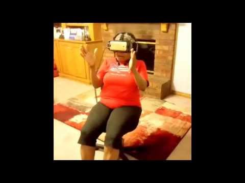 Mom tries out Samsung VR Rollercoaster Ride