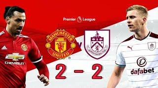 Manchester United vs Burnley FC 2-2 Highlights EPL 2017