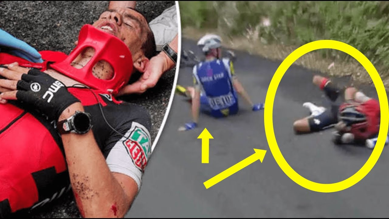 Richie porte geraint thomas crash out stage 9 tour de for Richie porte tour de france