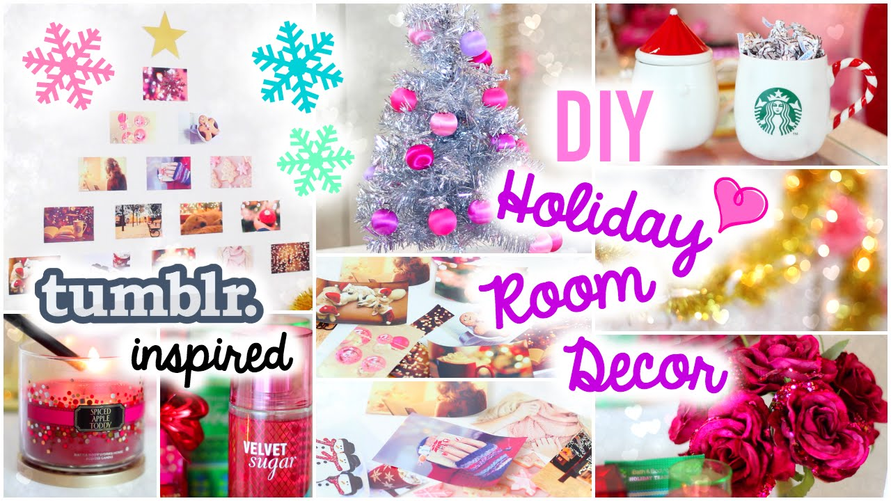 Diy holiday room decor easy simple ideas youtube - How to decorate simple room ...