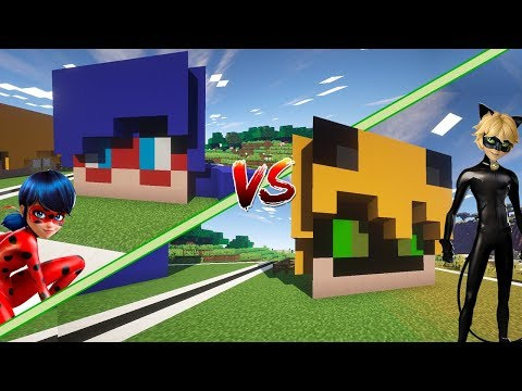 Casa de LADYBUG Vs Casa de CAT NOIR | Rovi vs Mel | Minecraft