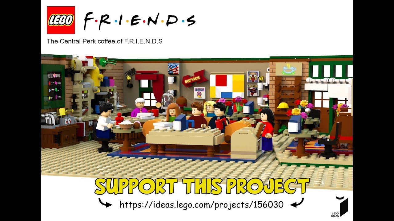 Friends' Central Perk Coffee Shop and Cast Made from 1,750 LEGO