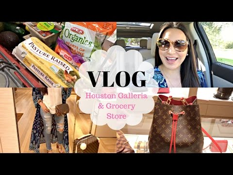VLOG - Galleria Shopping and Grocery Store   LuxMommy