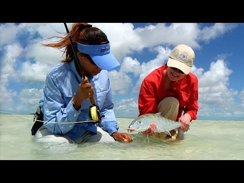Fly Fishing Bahamas - Women In Fly Fishing  By Todd Moen