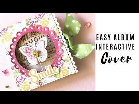 Scrapbook Album Tutorial  Easy Album Interactive Cover | Tutorial SCRAPBOOKING | Iralamija