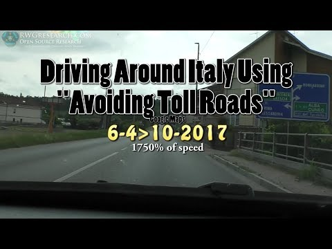Driving Around Italy Using