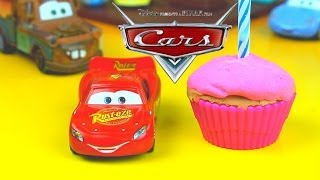 Disney Pixar Lightning McQueen Celebrates his Birthday Mater Surprises with gifts opening presents