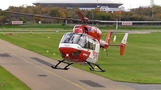 DRF Luftrettung – Hubschrauber - Punktlandung - BK 117 - D HTTT - Flughafen - City Airport Mannheim