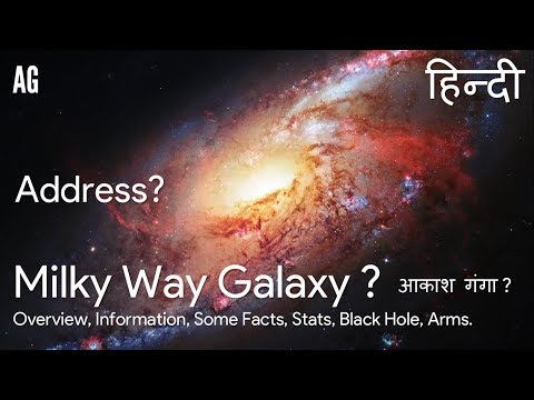 (Hindi) Milky Way Galaxy | आकाश गंगा | Address ? | Overview, Some Facts, Stats, Arms.