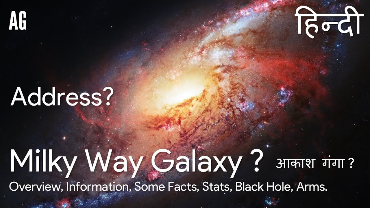 (Hindi) Milky Way Galaxy | आकाश गंगा | Address ? | Overview, Some Facts,  Stats, Arms