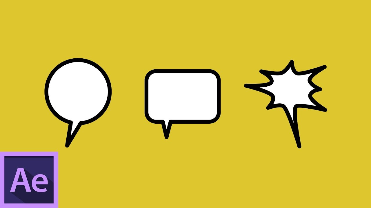 How to Make Comic Speech Bubbles in Adobe After Effects