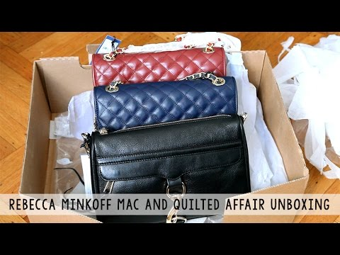 Rebecca Minkoff Mac And Quilted Affair Bags Unboxing Youtube