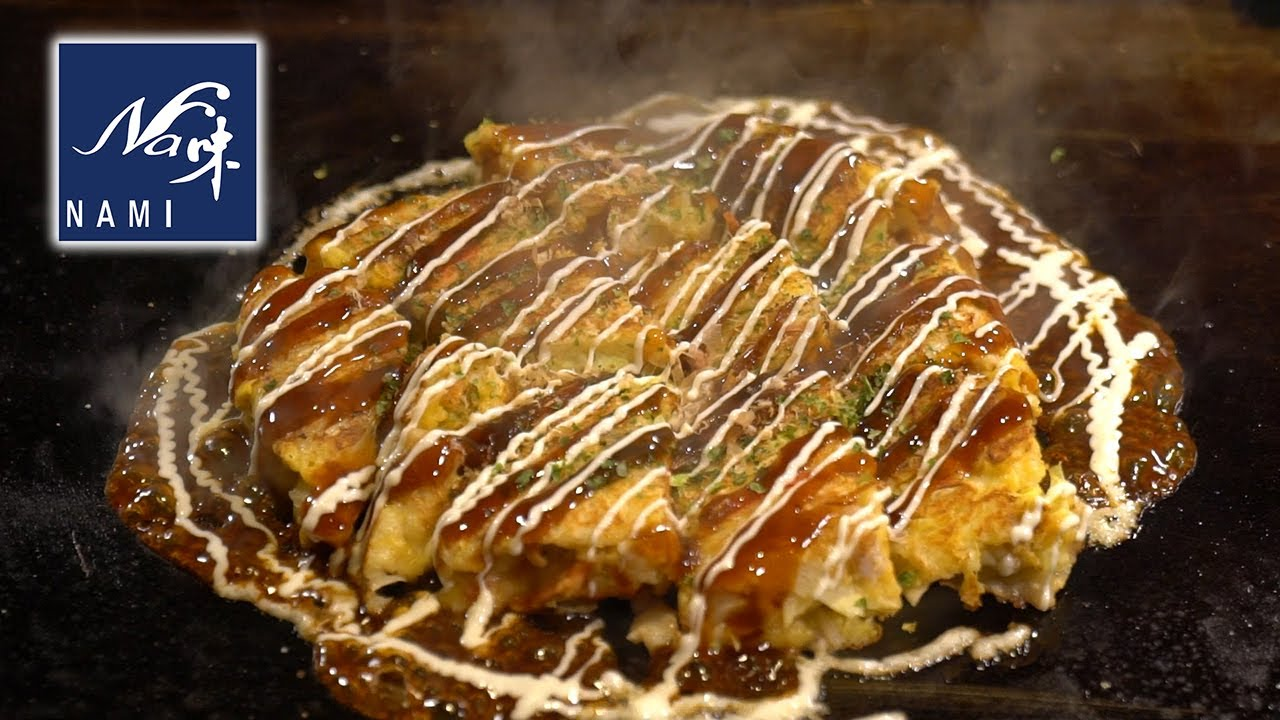 Truly delicious okonomiyaki made with thick batter