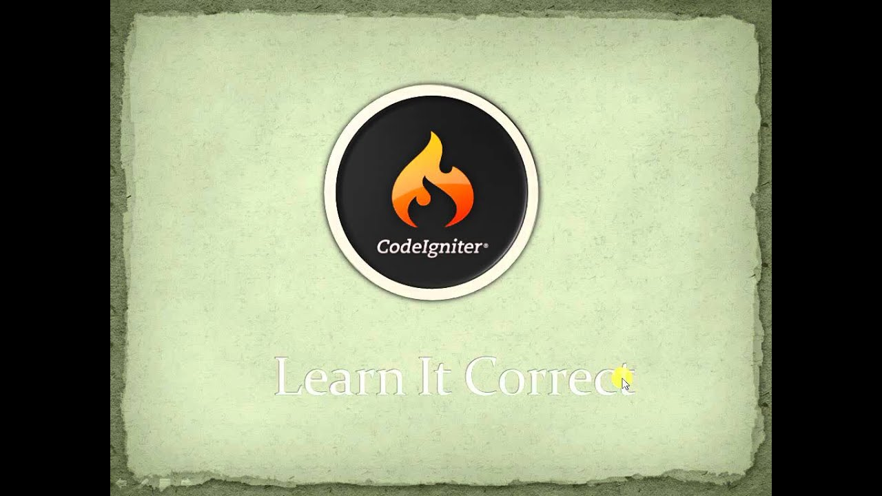 PHP MVC Codeigniter tutorial for beginners