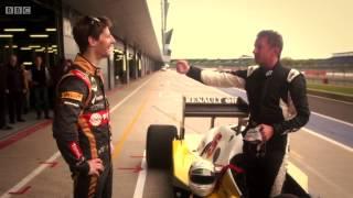 BBC F1 2014: Allan McNish and Romain Grosjean Drives 1983 Renault
