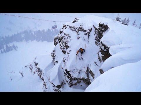 Jackson Hole Skiing Corbet's Couloir Backflip 70ft Frontflip Owen Leeper